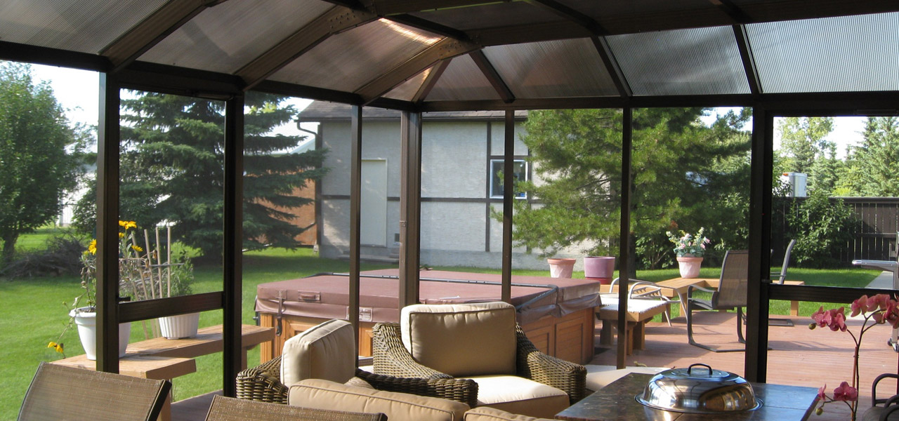 Screen Room With Polycarbonate Roof Wizard Screens